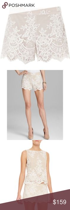 Alice olivia sequin lace shorts Alice olivia sequinned lace sold out everywhere retail price $398+tax Alice + Olivia Shorts Skorts