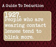 A Guide To Deduction #1927 | Suggested by a-guide-to-tracking-and-hiding