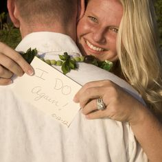 Vow renewals photo invite except sign should read-'We Do X's 2'