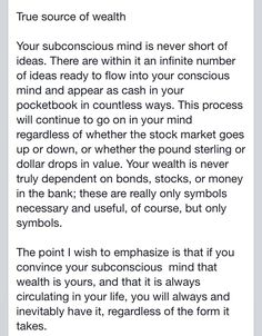 """True Source of Wealth - Excerpt from """"The Power of Your Subconscious Mind"""" by Dr Joseph Murphy"""