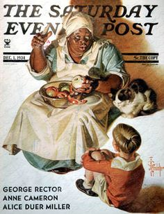 """Cooking Up a Story"" By J.C. Leyendecker. Issue: December 1, 1934. ©SEPS."