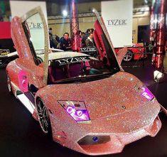 The Lamborghini Aventador is truly an incredible car. Huracan Lamborghini, Pink Lamborghini, Ferrari, Lamborghini Diablo, Fancy Cars, Cool Cars, Glitter Car, Lux Cars, Pink Cars