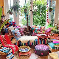 """""""MORE IS MORE AND LESS IS A BORE. """" #WordstoLiveby #Colorful #Folkloric #Abundance Sanctuary #Giftstore #HIPPIES ALWAYS WELCOME!"""