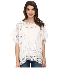 Vince Camuto Embroidered Eyelet Poncho