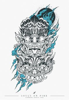 Fire temple warriors by Viscera Vicarious, via Behance