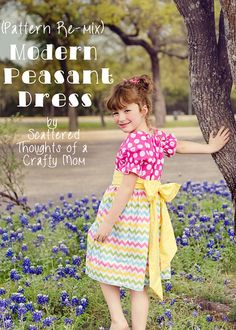 How to make this modern version of the peasant dress, free pattern included