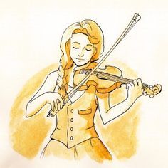 Coffee-violin-girl Princess Zelda, Disney Princess, Violin, Disney Characters, Fictional Characters, Coffee, Art, Kaffee, Art Background