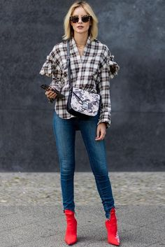 SJYP | Printed Cotton-Blend Shirt with Statement Sleeves | STYLEBOP.com