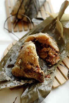 Chinese Sticky Rice in Bamboo Leaves