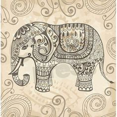 Vintage Elephant Shower Curtain by Daecu - CafePress Vintage Elephant, Elephant Love, Elephant Pillow, Elephant Design, Indian Elephant Art, Elephant Sketch, Elephant Fabric, Elephant Images, Elephant Tapestry