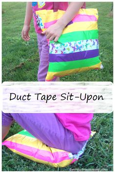 Duct Tape Sit-Upon -- great camp craft for Girl Scouts or Boy Scouts