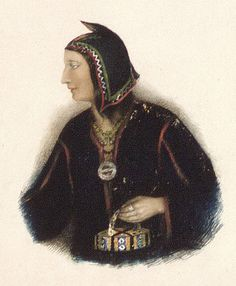 Portrait of Mary Bernard, a Mi'kmaq from Whykokamagh, Nova Scotia, painted by Ellen Nutting circa 1840-46