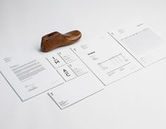 Stationery design by Mark Brooks for Magro Cardona, a Madrid based high end footwear brand. Invoice Design, Identity Design, Visual Identity, Brand Identity, Logo Design, Fashion Identity, Business Card Design, Business Cards, Corporate Design