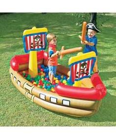 Inflatable Pirate Ship Bouncy Castle - review, compare prices, buy online