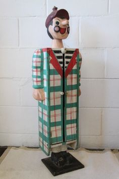 Buy An interesting and unusual free standing antique tabletop cabinet in the form of a clown w/ shelvesfor R1,550.00