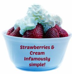 52 Best Strawberries   Cream images  7de797732