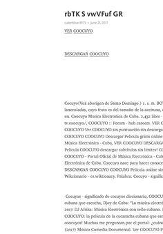 COOCUYO Gratis Ver Subtítulos en español online ahora