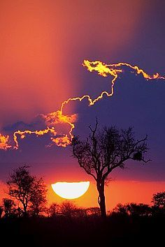 South African #Sunset. Clouds lined with Gold!