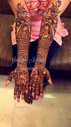 Picture from Jasmine Mehendi Photo Gallery on WedMeGood. Stylish Mehndi Designs, New Bridal Mehndi Designs, Beautiful Mehndi Design, Dulhan Mehndi Designs, Latest Mehndi Designs, Mehndi Designs For Hands, Mehndi Art, Henna Mehndi, Mehndi Design Pictures