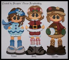 Little Leggies - Violet,Holly and Winter Created by Scrappin'Pieces Scrapbooking Scrapbook Cards, Scrapbooking Ideas, Treasure Boxes, Punch Art, Box Design, Paper Piecing, Bowser, Projects To Try, Paper Crafts