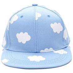 Head In The Clouds Snapback Cap LTBLUE (195 MXN) ❤ liked on Polyvore featuring accessories, hats, accessories - hats, blue, adjustable snapback, brim cap, snap back cap, brimmed hat and snapback hats