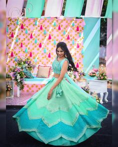 Check out our favorite bridal wear designers who offer affordable bridal lehengas to budget brides. Affordable wedding shopping places on ShaadiWish. Baby Girl Frocks, Frocks For Girls, Lehenga Color Combinations, Summer Wedding Outfits, Summer Weddings, Mehendi Outfits, Indian Outfits, Lehenga Hairstyles, Girls Frock Design