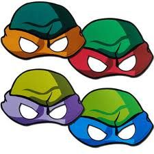 ninja turtle party masks instead of hats :}