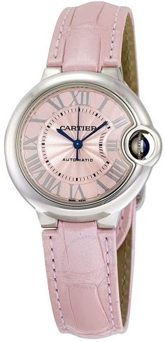 ac4652e6ecf Cartier Ballon Bleu Automatic Pink Dial Ladies Watch Rose Gold Watches