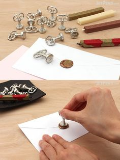 Sealing wax has been used since ancient times for decoration and sealing private documents. Use this typewriter font seal to create an elegant impression in your sealing wax. Stationery Companies, Sealing Wax, Jet Pens, Made In America, Wax Seals, Typewriter, Rustic Style, Desks, Bullet Journal
