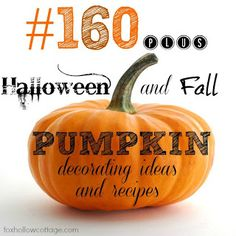 Halloween Pumpkin Ideas Galore!! Def pin for later - So much good stuff | #Halloween #pumpkin