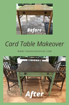 Click to see how I acheived this fun look with this old card table and chairs set. Card Table And Chairs, Table And Chair Sets, Table Cards, Small Furniture, Home Decor Furniture, Furniture Makeover, Furniture Ideas, Diy Projects Using Wood, Diy Home Decor Projects