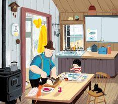 Illustrator: Benji Davies; The Storm Whale (Macmillan)