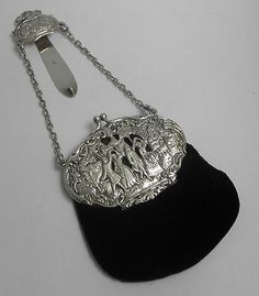 Leather And Silver Bracelet Mens Vintage Purses, Vintage Bags, Vintage Handbags, Vintage Jewelry, Beaded Purses, Beaded Bags, Silver Purses, Silver Handbags, Silver Jewellery Indian