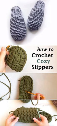 How to Crochet Cozy Slippers – Design Peak How to Crochet Cozy Slippers – Design Peak,Knitting Crochet Cozy, Crochet Socks, Crochet Crafts, Yarn Crafts, Free Crochet, How To Crochet Slippers, Beginner Crochet, Etsy Crafts, Easy Knitting Projects