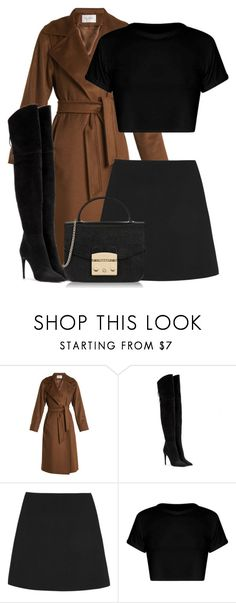 """Untitled #1231"" by fashionmodelstyle ❤ liked on Polyvore featuring MaxMara, Miu Miu, Valentino and Furla"