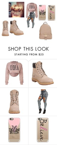 """pink"" by minnieblasin on Polyvore featuring Timberland, Casetify, MICHAEL Michael Kors, women's clothing, women, female, woman, misses and juniors"