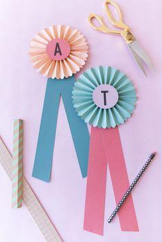 DIY Paper Prize Ribbons