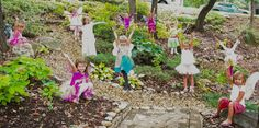 Fairies in the Woods at the Fairy Party