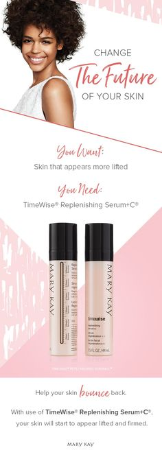 The vitamin C your skin craves. Apply TimeWise® Replenishing Serum+C® morning and night for skin that appears lifted, firmed and more resilient. | Mary Kay