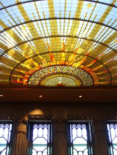 Art Deco Stained Glass Ceiling - Buffalo City Hall