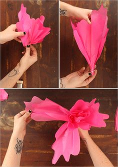 combine smallest petals with larger petals with glue and wire