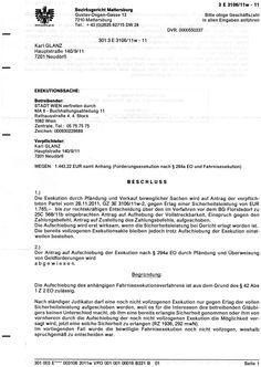 Exekution durch Bezirksgericht Mattersburg