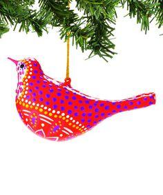 Look what I found on #zulily! Red Pattern Bird Ornament #zulilyfinds