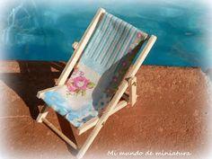 Mi mundo de miniatura: Tumbona de playa