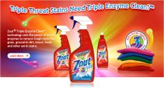 My stain removal tip:  Spray Zout and the Oxy Clean laundry spray liberally on your stain.  Let sit for 24 hours.  Spray again and wash as usual.  I've had it get out set in grease stains as well as manyh other other tough stains.