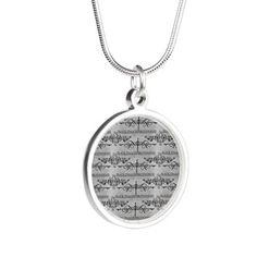 Black Dagger Brotherhood Silver Round Necklace on CafePress.com