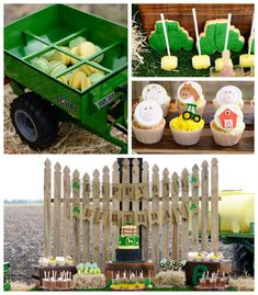 John Deere Farm themed birthday party via Kara's Party Ideas KarasPartyIdeas.com #johndeere #farmparty #johndeereparty #boypartyideas