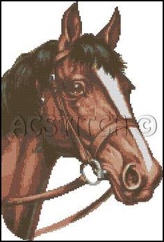 HORSE cross stitch pattern No.68 by glenniz on Etsy, $4.99
