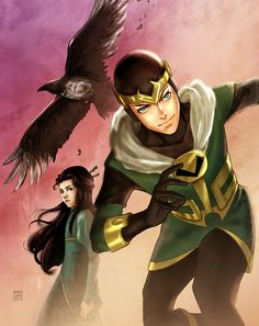 Kid Loki, Leah, and Ikol by annecain.deviantart.com on @deviantART