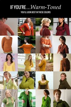 This guide will help you learn about finding flattering colors for your skin tone using seasonal color analysis. Knit sweaters that look great on you!